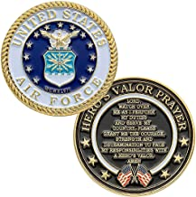 flag connections United States Air Force Challenge Coin with Prayer 1-Pack (One Coin)