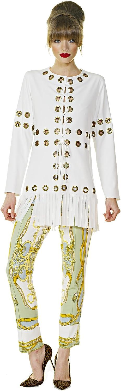 Eva Varro Women's Multi Grommet Fringe Jacket
