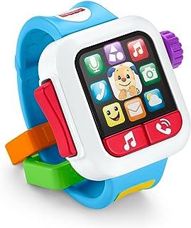 Fisher Price Ríe y Aprende, Mi Primer Smartwatch, Juguete para bebés de 6 Meses en adelante con Sonidos Que enseñan Colore...
