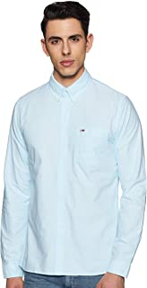 TOMMY HILFIGER Men's Solid Regular fit Casual Shirt