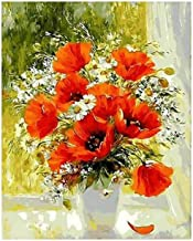 Painting by Numbers Adult Flowers Oil Painting Pre-Printed Canvas Kids Kits Home House Decor-40 * 50cm (Frameless)