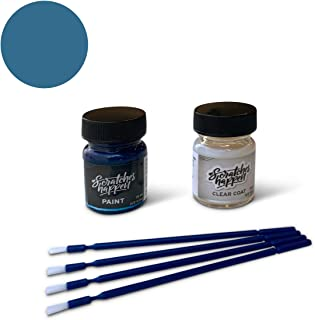 ScratchesHappen Exact-Match Touch Up Paint Kit Compatible with Acura/Honda Atomic Blue (B-537M) - Essential