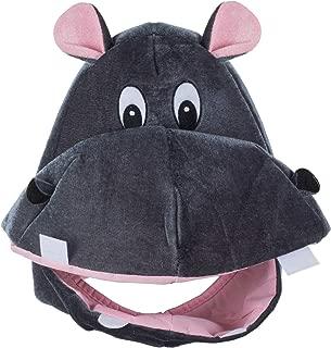 Tigerdoe Hippo Hat - Animal Hat - Hippopotamus Costume - Elephant Hat - Funny Costume Accessories - Animal Costume Hats