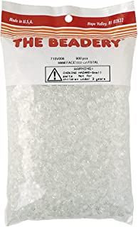 The Beadery 8mm Faceted Bead in Crystal, 900-Piece