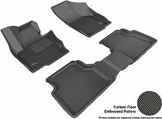 3D MAXpider Complete Set Custom Fit All-Weather Floor Mat for Select Volkswagen Tiguan Models - Kagu Rubber (Black)