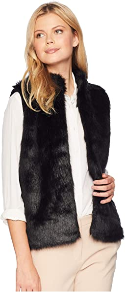 Faux Fur Sweater Back Vest