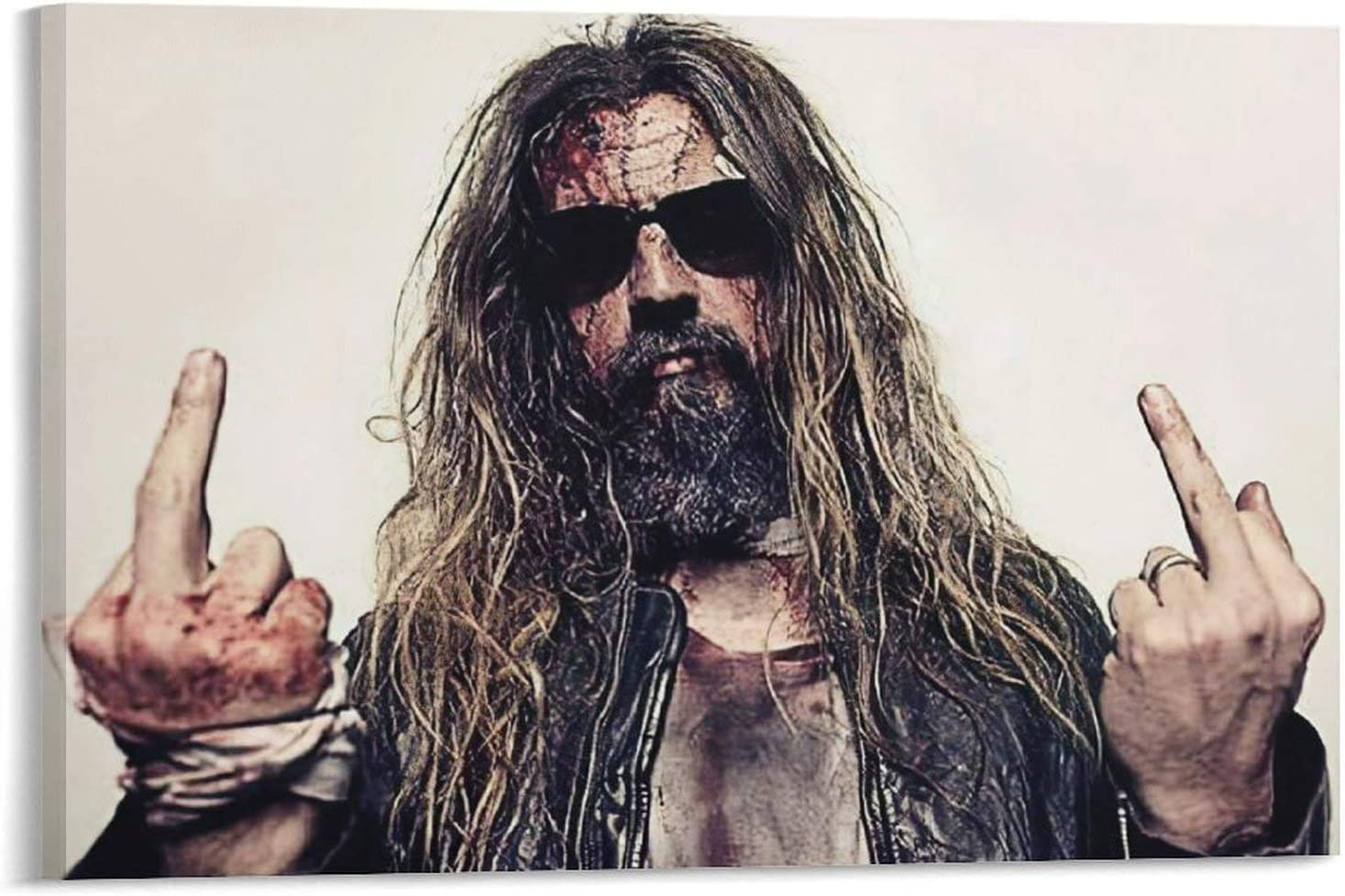 SSD Rob Zombie Men's Hell Billy Canvas A ギフト プレゼント ご褒美 Black Music Poster 特売 Head