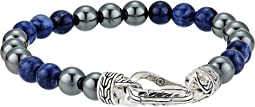 Classic Chain 8 mm. Bracelet with Sodalite and Hematite Beads