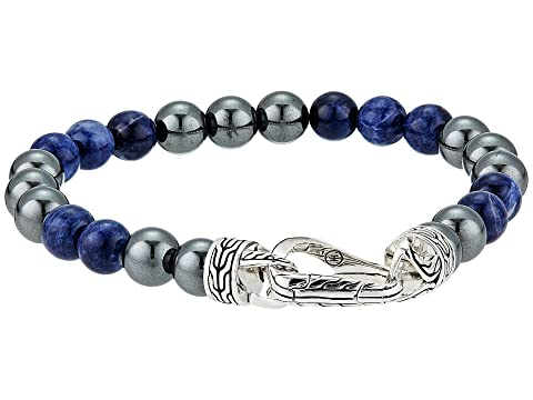 John Hardy Classic Chain 8 mm. Bracelet with Sodalite and Hematite Beads