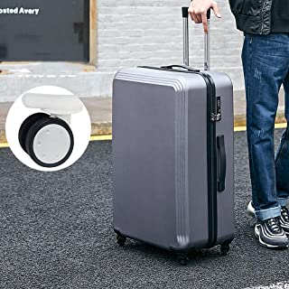 YCYHMYF Suitcase Zipper Box PC Adult Password Box Rugged Trolley case Gray 22 inch