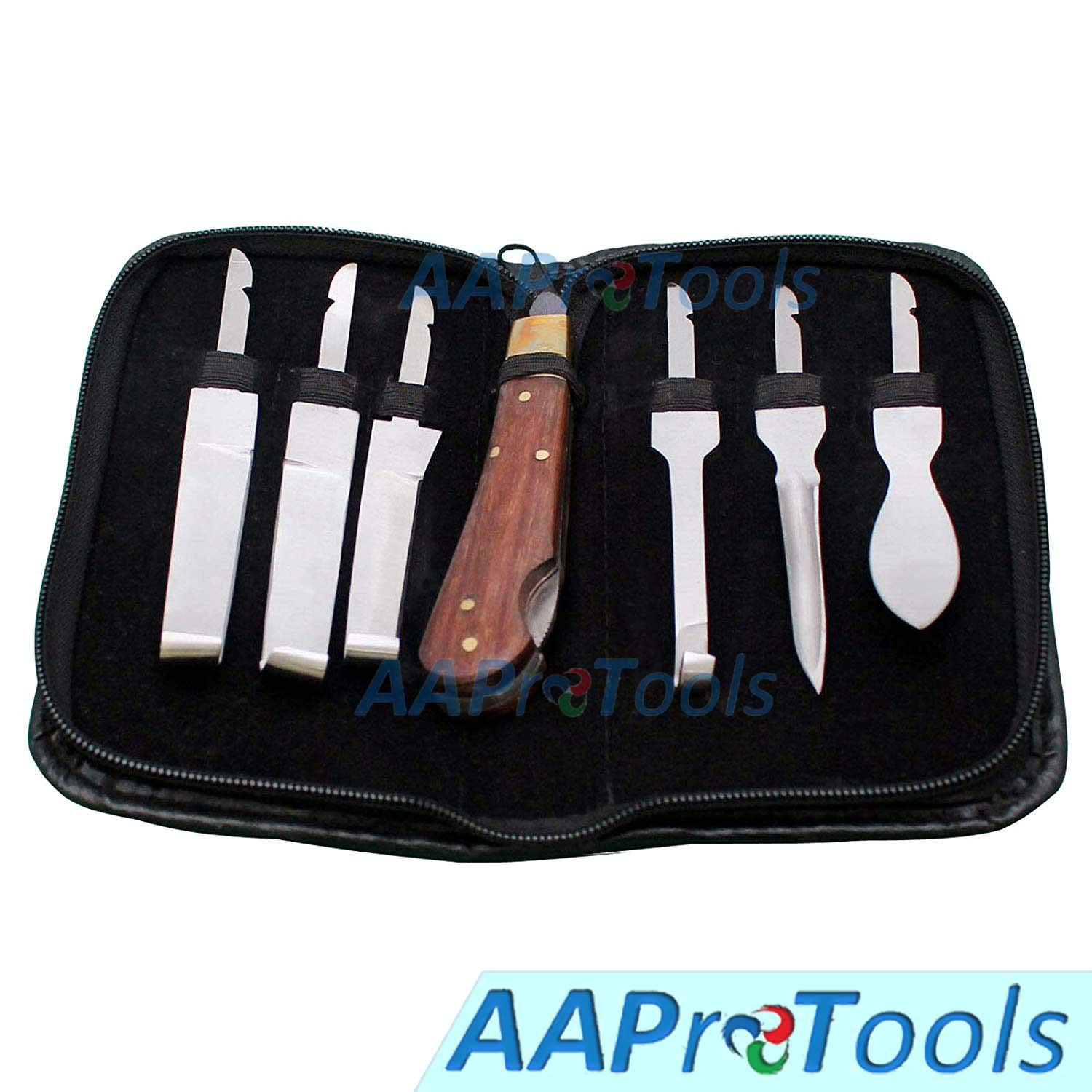 AAProTools Hoof Knives Set with Zip Wallet Great interest Up Quality Premium Raleigh Mall -