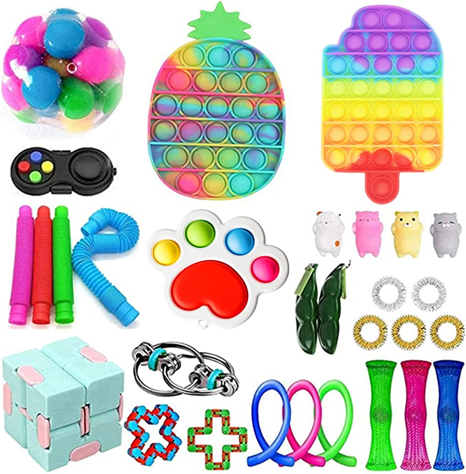 Sensorische Fidget Spielzeug-Satz für Kinder oder Erwachsene Fidget Toys Pack Hand Spielzeug Stress Angst Relief Spielzeug Set für ADHS