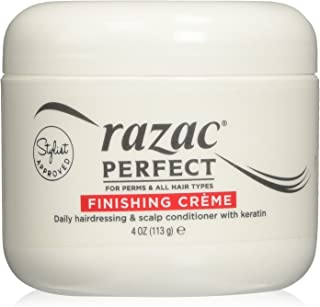 Razac Perfect for Perms Finishing Creme Daily Hairdressing and Scalp Conditioner, 4 Ounce