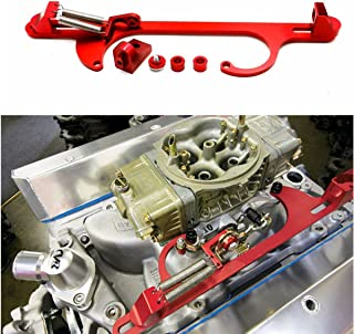 RANK Holley 4150 4160 Aluminum Throttle Cable Carb Bracket Carburetor 350 SBC Red