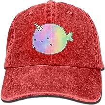 OHMYCOLOR Unicorn Rainbow Fish Denim Adjustable Baseball Caps For Mens Womens Printing Hip Hop Trucker Hats Snapback