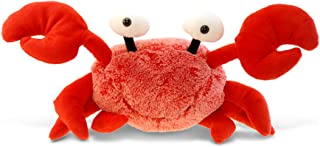 Puzzled Plush Crab Stuffed Animal - Soft Fur Huggable Red Crab Stuffed Toy, Adorable Playtime Plush Toy, Cute Sea Life Cud...