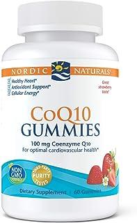 Nordic Naturals CoQ10 Gummies, Strawberry - 100 mg Coenzyme Q10 (CoQ10) - 60 Gummies - Great Taste - Heart Health, Cellula...
