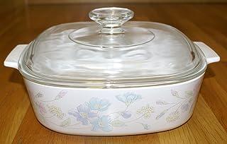 "Vtg Corning Ware ""Pastel Bouquet"" (2 qt) Casserole Baking Dish with Lid (A-2-B)"