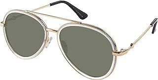 Double BridgeMetal Aviator Men Women Designer Sunglasses with Pouch