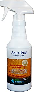 Agua Pro Wood Sealer for All Wood Works Indoor and Outdoor - Water-Based Safe for Kids and Pets Areas (16oz)
