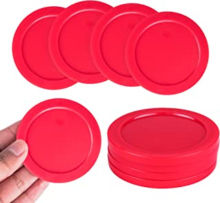 "Super Z Outlet Home Air Hockey Red Replacement 2.5"" Pucks for Game Tables, Equipment, Accessories (4 Pack)"
