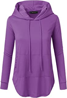 dcb93192526 Doublju Loose Fit Pullover Hoodie with Kangaroo Pocket for Womens with Plus  Size