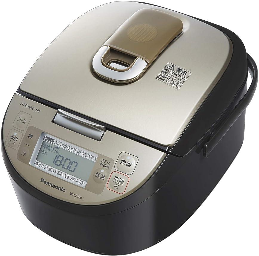 基本的な不倫ヤギパナソニック 5.5合 炊飯器 IH式 ダイヤモンド竈釜 ブラック SR-SZ100-K
