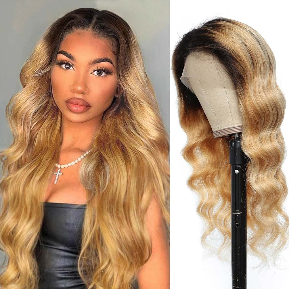 Ombre Lace Front Sale Wig Human Hair 27 Baby 1b Pre with Over item handling Plucked
