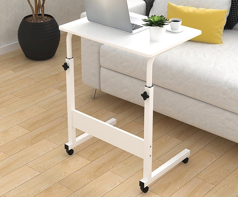 SHWSM Simple Laptop Table Bed Desktop Household Simple Bedside Lift Mobile Writing Desk Folding Table (color    2, Size   80  40cm)
