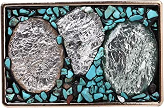 Belt buckle, Western cowboy Turquoise Stone belt buckle for leather belts