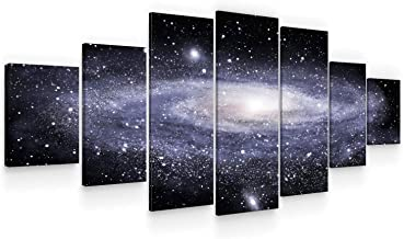 Startonight Huge Canvas Wall Art Spiral Galaxy - USA Large Home Decor - Dual View Surprise Artwork Modern Framed Wall Art ...