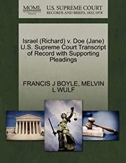 Israel (Richard) V. Doe (Jane) U.S. Supreme Court Transcript of Record with Supporting Pleadings