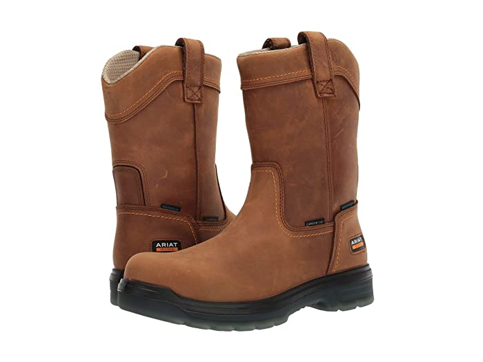 Ariat  Turbo Pull-On H2O (Aged Bark) Mens Work Pull-on Boots