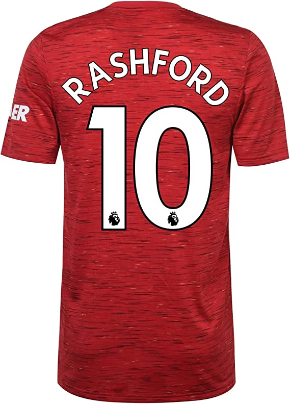 amazon com manchester united fc home shirt 2020 2021 mens official soccer kit clothing manchester united fc home shirt 2020 2021 mens official soccer kit
