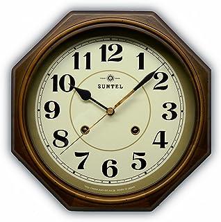 さんてる(Suntel) 掛け時計 アンティークブラウン Φ28.5×5.5cm