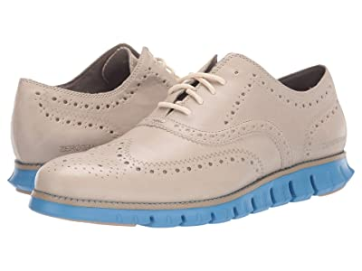 Cole Haan Zerogrand Wing Tip Oxford (Hawthorn Leather/Brazilian Sand/Pacific Coast) Men