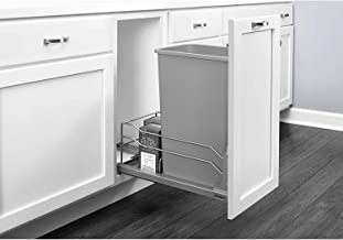 Rev-A-Shelf 53WC-1550SCDM-117 50 Quart Undermount Pullout Waste Container, Gray