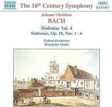 jc bach symphonies