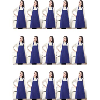 Professional Restaurant Cooking Chef Aprons for Women Navy Blue RAJRANG BRINGING RAJASTHAN TO YOU Apron Wholesale Lot of 10 35 x 27 APN00043