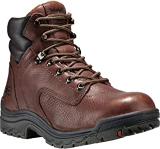 "Timberland PRO Women's 55398 Titan 6"" Soft-Toe Boot,Brown,8.5 W"