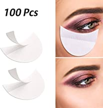 100 Pcs Professional Eyeshadow Pads Stencils Lint Free Under Eye Pads Eyeshadow Patches For Eyelash Extensions/Lip Makeup