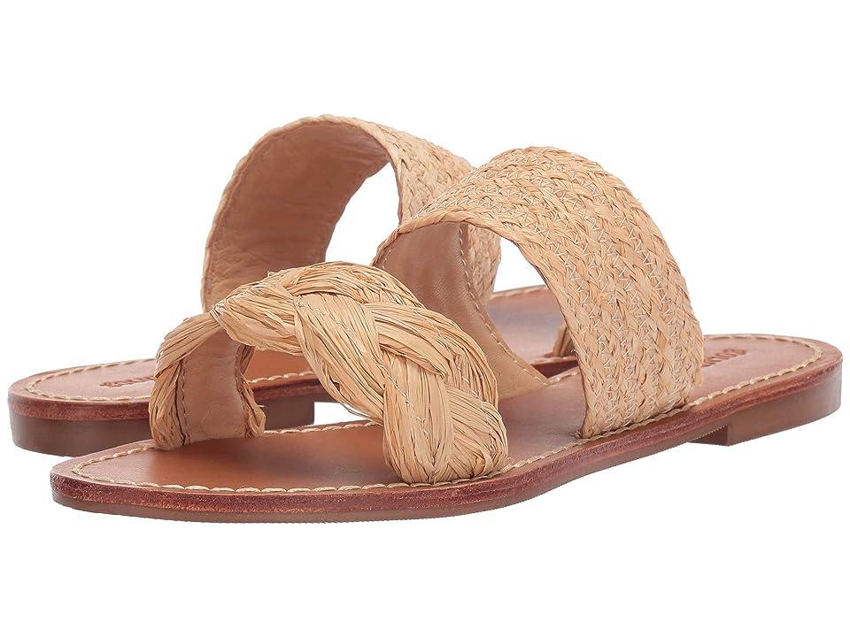 Soludos Raffia Braided Slide Sandal (Natural) Women