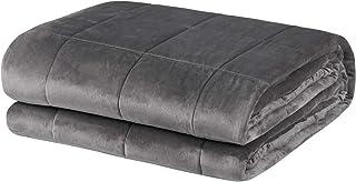 WOLTU Therapiedecke Gewichtsdecke für Erwachsene, Schwere Decke Therapie aus Mikrofaser, Cashmere Feeling, Beschwerte Decke Anti Stress, für besseren Schlaf, Weighted Blanket Grau 150x200cm, 11kg