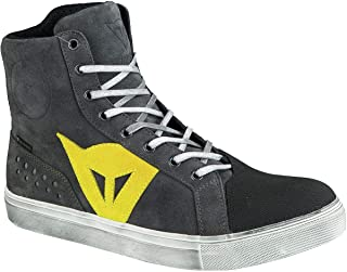 Dainese Street Biker D-WP Shoes (40) (Anthracite/Yellow)