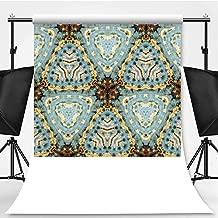 Tie Dye Decor Theme Backdrop Photography Background Backdrops,Classic Tie Dye Batik Motif with Bizarre Oriental Multiple Icons Aesthetic,6x10ft