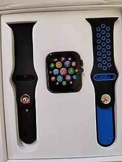 ساعة ذكية (شحن لاسلكي، بلوتوث 5.0، شاشة ECG، مراقب HR لمستوى الدم والأكسجين ومعدل ضربات القلب، متتبع النشاط) (حزامين) (أسو...