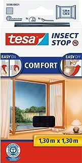 tesa Insect Stop Comfort vliegenhor voor ramen/insectenbescherming met zelfklevend klittenband/antraciet (3-delige set, 13...