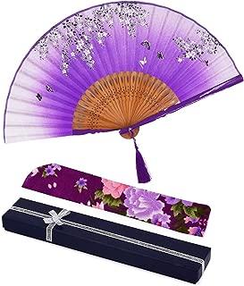 purple silk fans