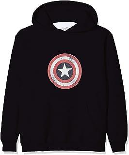 Marvel Cap Logo Sudadera con Capucha para Ni/ños