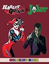 Harley Quinn and Joker Coloring Book: 2 in 1 Coloring Book for Kids and Adults, Activity Book, Great Starter Book for Children with Fun, Easy, and Relaxing Coloring Pages